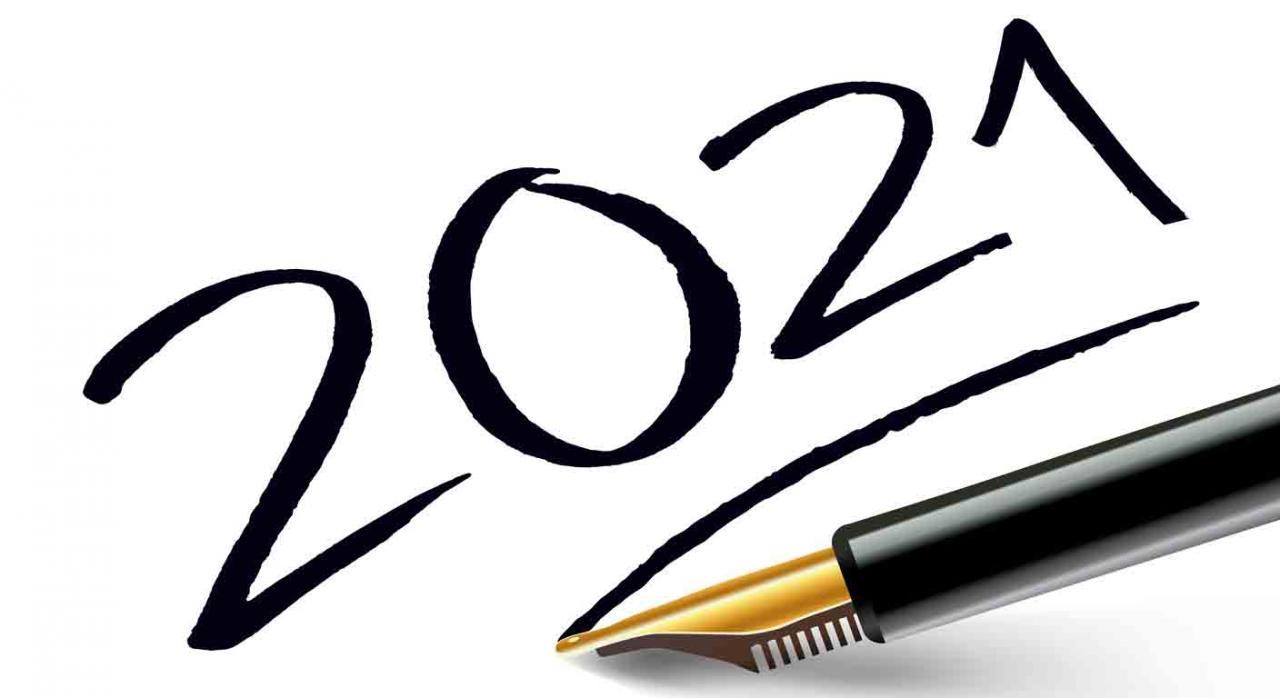 Contabilidad. 2021 escrito con una pluma