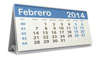 Calendario fiscal febrero 2014