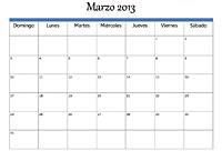 Calendario Fiscal Marzo 2013