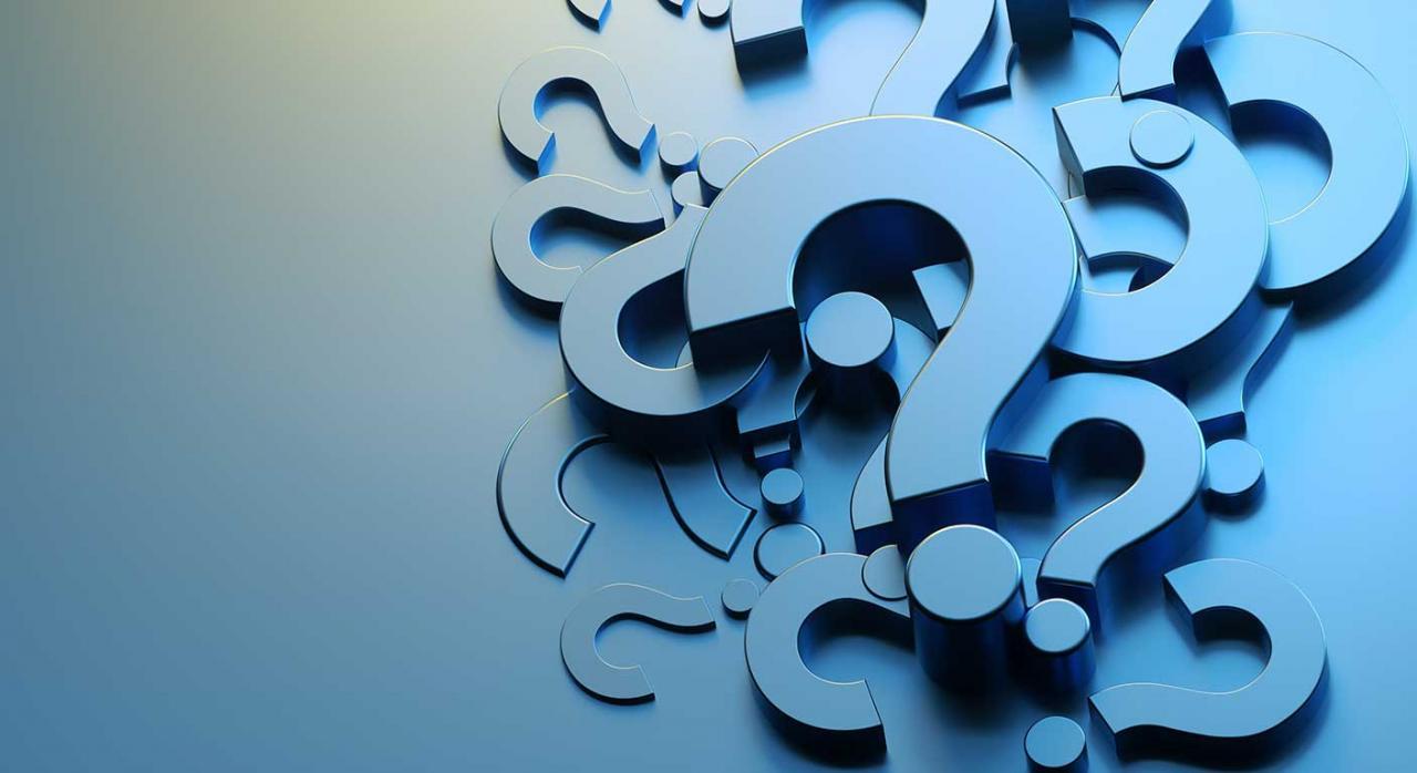 El ICAC publica nuevas consultas de contabilidad. Imagen con signos de interrogación