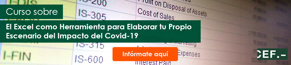 Curso sobre el Excel como Herramienta para Elaborar tu Propio Escenario del Impacto del Covid-19
