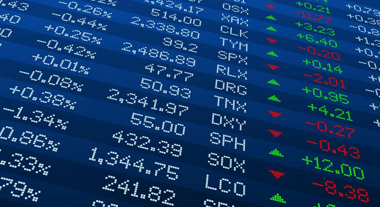 Valores del Ibex que no reflejan su valor contable en Bolsa. Imagen de los datos del Ibex