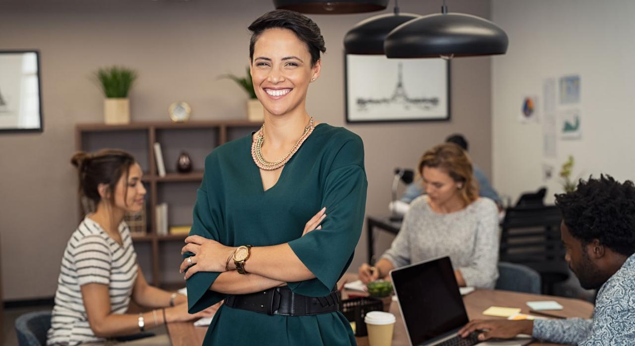 Liderar. Imagen de una mujer de negocios