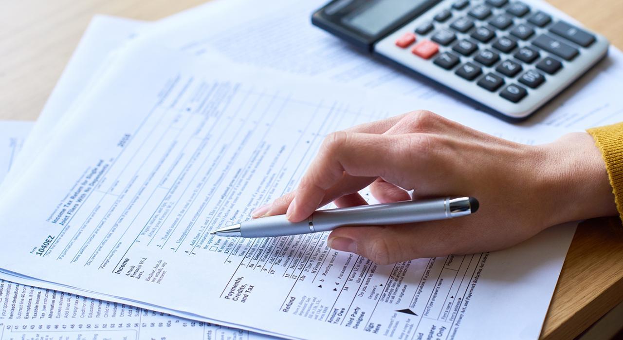 Modelos. Imagen de formulario de declaración de impuestos