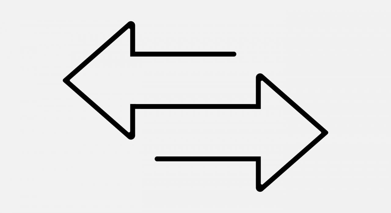 Permuta. Imagen de dos flechas