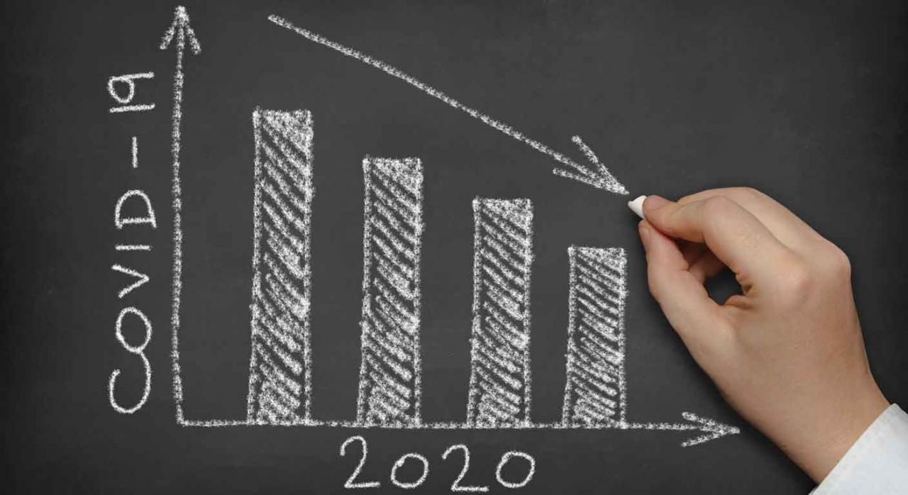 Provisiones. Gráfico que representa la recesión en 2020 por el COVID