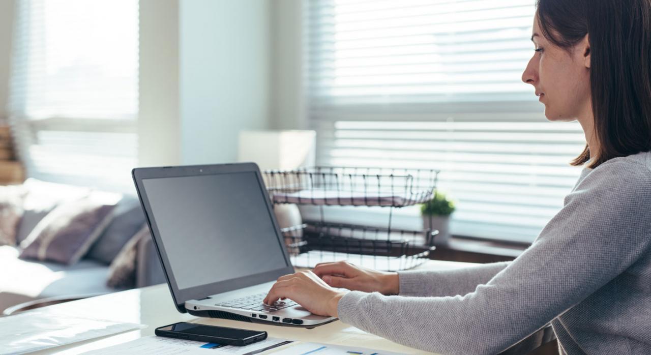 7 razones por las que un contable o financiero debe tener conocimientos de Visual Basic. Imagen de una chica con un ordenador portátil